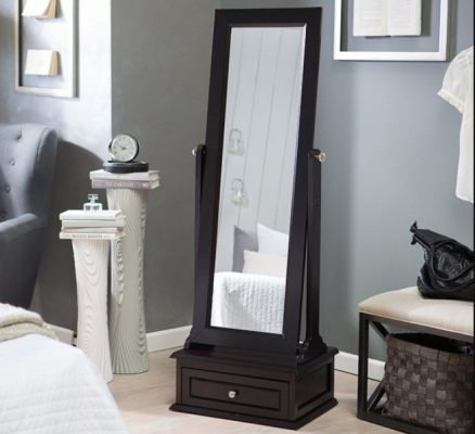 Full Length Mirror with Cabinet